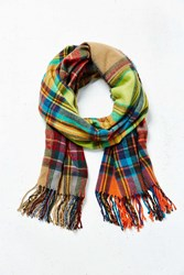 Urban Outfitters Mixed Plaid Scarf Assorted