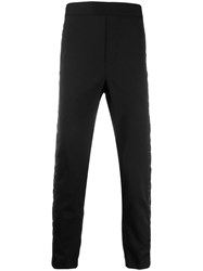 Just Cavalli Quilted Panel Trousers Black
