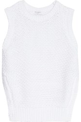 Equipment Bay Knitted Cotton Blend Sweater White