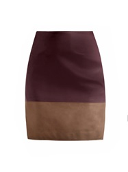 Richard Nicoll Bi Colour Leather Skirt
