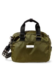 Steve Madden Studded Swift Satchel Olive