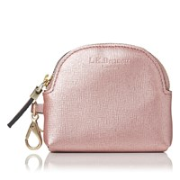 Lk Bennett L.K. Raven Small Zip Coin Purses Pink Metallic
