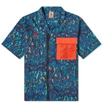 Nike Acg All Over Print Shirt Blue