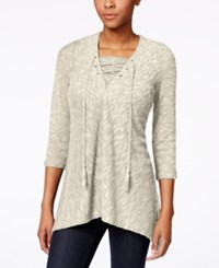 Styleandco. Style And Co. Lace Up Top Only At Macy's