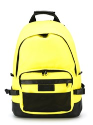 Ami Alexandre Mattiussi Side Buckle Backpack Yellow And Orange