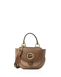 Michael Michael Kors Isadore Top Handle Small Leather Messenger Dark Khaki Gold