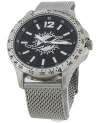 Game Time Miami Dolphins Cage Series Watch Silver Black