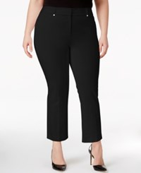 Alfani Plus Size Skinny Cropped Pants Only At Macy's Deep Black