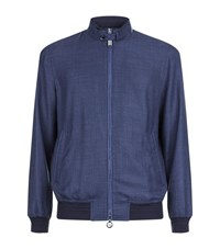 Stefano Ricci Lightweight Bomber Jacket Male Blue