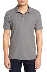 Men's Vince Camuto Stripe Polo Charcoal