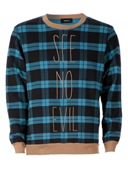 Undercover Plaid Pattern Sweatshirt