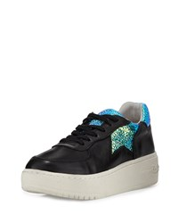 Ash Fool Platform Sneaker Black Green