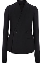 Rick Owens Stretch Wool Blend Jacket Midnight Blue