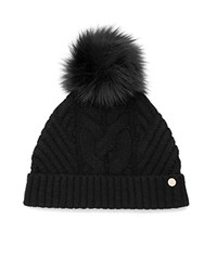 Ted Baker Lisabet Hat With Pom Pom Black