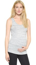 Ingrid And Isabel Scoop Neck Maternity Tank Grey Swept Marble
