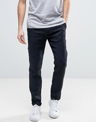 Sisley Trousers In Relaxed Fit With Herringbone Stripe Charcoal 921 Grey