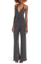 Astr Women's Brigitte Metallic Jumpsuit