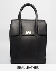 Urbancode Leather Tote Backpack Black