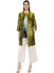 Max Mara 'S Flower Jacquard Techno Satin Coat