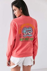 Obey So Faded Long Sleeve Tee Berry