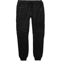 Belstaff Ashdown Slim Fit Tapered Loopback Cotton Jersey Sweatpants Black