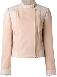 J Brand Leather Jacket Pink And Purple