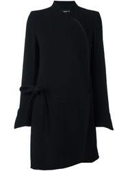 Ann Demeulemeester Dislocated Zipped Mid Length Coat Black