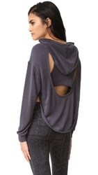 Free People Movement Back Into It Hoodie Black