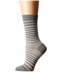 Falke Micro Stripe Ankle Grey Mix Women's Crew Cut Socks Shoes Gray