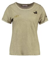 Soaked In Luxury Kylie Print Tshirt Dusty Olive