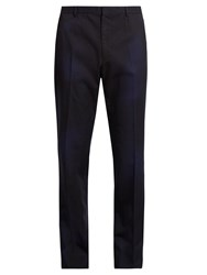 Lanvin Cotton Twill Tailored Trousers Blue Multi