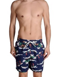 Franklin And Marshall Swimming Trunks Dark Blue