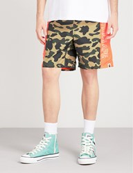 A Bathing Ape 1St Camouflage Print Shell Shorts Yellow