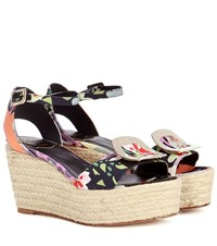 Roger Vivier Corda Chips Wedge Sandals Multicoloured