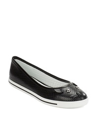 Marc By Marc Jacobs Perforated Leather Mouse Ballet Flats Black