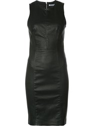 Alexander Wang T By Fitted Mini Dress Black