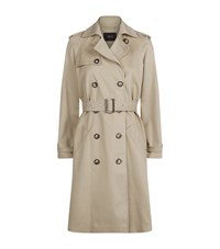 Set Twill Trench Coat Female Beige
