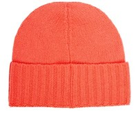 Barneys New York Women's Folded Cuff Cashmere Hat Pink