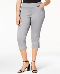 Lee Platinum Plus Size Cropped Pull On Pants Gray