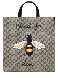 Gucci Bee Print Gg Supple Tote Bag