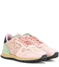 Valentino Lace Sneakers Pink
