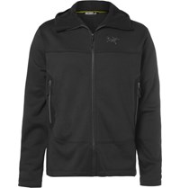 Arc'teryx Arenite Cobblecomb Fleece Back Jersey Hooded Jacket Black