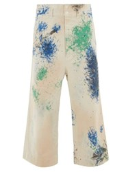 Sasquatchfabrix. Sasquatchfabrix Docan Paint Print Cotton Canvas Trousers White