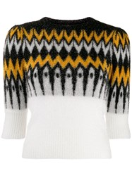 Laneus Patterned Chest Jumper Black