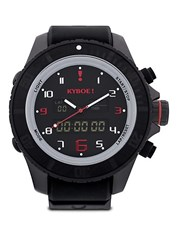 Kyboe Stainless Steel Military Grade Strap Watch Black