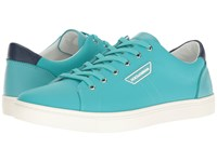 Dolce And Gabbana London Rubberized Leather Sneaker Teal