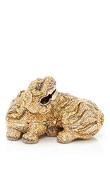 Judith Leiber Couture Majesty Foo Dog Clutch Gold