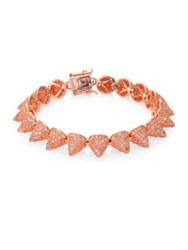 Eddie Borgo Pave Crystal Small Cone Bracelet Rose Gold