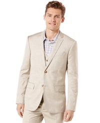 Perry Ellis Big And Tall Textured Blazer Natural Linen