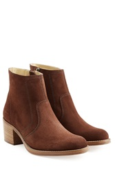 A.P.C. Suede Ankle Boots Brown
